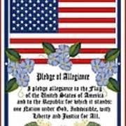 Pledge Of Allegiance Art Print by Anne Norskog