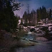 Plumas River In Sierras Art Print