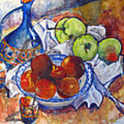 Plums Apples Art Print