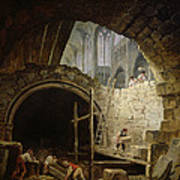 Plundering The Royal Vaults At St. Denis In October 1793 Oil On Canvas Art Print