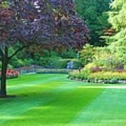 Plush Landscape Bucshart Gardens Art Print