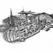 Pluto City Art Print