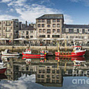 Plymouth Barbican Harbour Art Print by Donald Davis