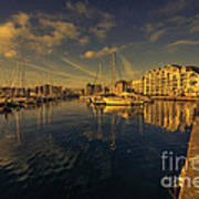 Plymouth Barbican Marina  Art Print