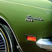 Plymouth Barracuda 340-s Emblem Art Print