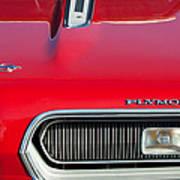 Plymouth Barracuda Grille Emblem Art Print