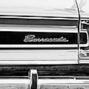 Plymouth Barracuda Taillight Emblem -0711bw Art Print