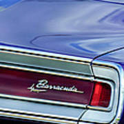 Plymouth Barracuda Taillight Emblem Art Print