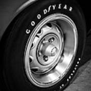 Plymouth Cuda Rallye Wheel Art Print by Paul Velgos