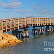 Plymouth Harbor Breakwater Print by Catherine Reusch  Daley