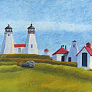 Plymouth Light Station Before 1924 Art Print