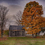 Plymouth Notch Barn In The Fall Art Print