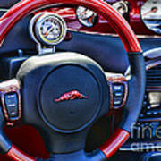 Plymouth Prowler Steering Wheel Art Print