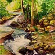 Pocantica River Rapids Art Print