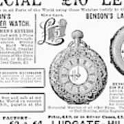 Pocket Watches, 1888 Art Print