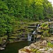 Poconos Ledges Waterfall Art Print
