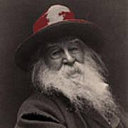 Poet Walt Whitman George Collins Cox Photo 1887-2010 Art Print