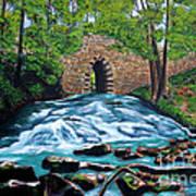Poinsett Bridge I, Historic Landmark In Upstate Of South Carolina Art Print