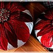 Poinsettias - Handmade - Crafts - Pumpkins Art Print