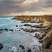 Point Arena Headland And Lighthouse Art Print