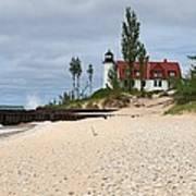 Point Betsie Lighthouse Classic View Art Print