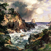 Point Lobos Monterey California Art Print by Thomas Moran