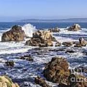 Point Lobos Rocks And Waves Art Print