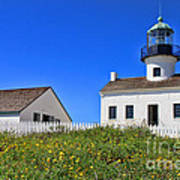 Point Loma Lighthouse By Diana Sainz Art Print