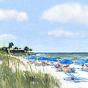 Point Of Rocks On Siesta Key Art Print by Shawn McLoughlin