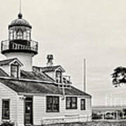 Point Pinos Lighthouse By Diana Sainz Art Print