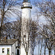 Pointe Aux Barques  Lighthouse Art Print