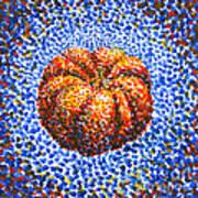 Pointillism Pumpkin Art Print