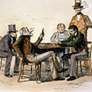 Poker Game, 1840s Art Print