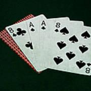 Poker Hands - Dead Man's Hand Art Print