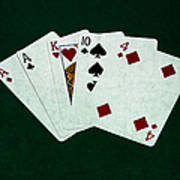 Poker Hands - One Pair 1 Art Print
