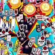Poker Playfield Art Print