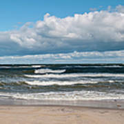 Poland, View Of Baltic Sea In Autumn At Art Print