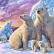 Polar Bear Family Art Print