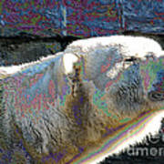 Polar Bear With Enameled Effect Art Print