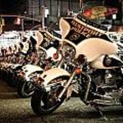 Police Bikes In New York Art Print