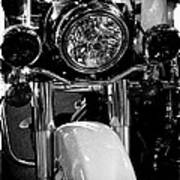 Police Harley II Art Print by David Patterson