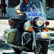 Police - Motorcycle Cop Art Print