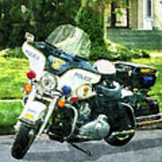 Police - Police Motorcycle Art Print
