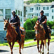 Police - Two Mounted Police Art Print