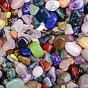 Polished Gemstones Art Print