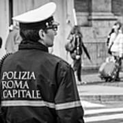 Polizia Roma Capitale Art Print