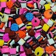Polka Dot Colorful Candy Art Print