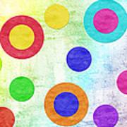 Polka Dot Panorama - Rainbow - Circles - Shapes Art Print by Andee Design