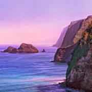 Pololu Valley Sunset Art Print