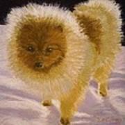 Pom Pom Pup Art Print